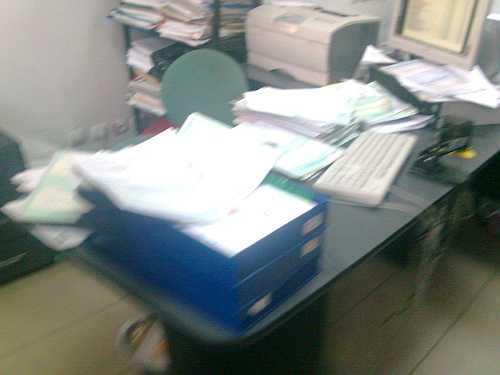 Biroul unui angajat ANAF Cutitul de Argint