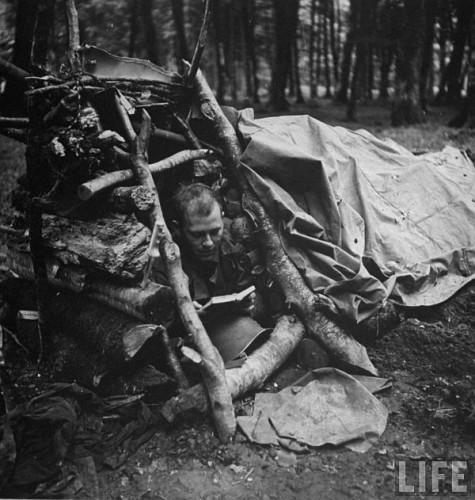 Adapostul unui infanterist american