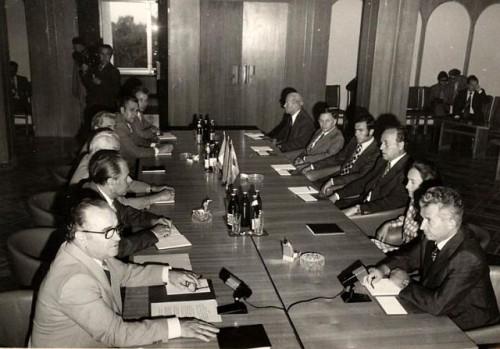 Ivan Bodiul faţă în faţă cu Nicolae Ceauşescu la Chişinău, Fototeca online a comunismului românesc, cota 340/1976