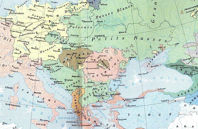 Harta etnica a romanilor de la 1885